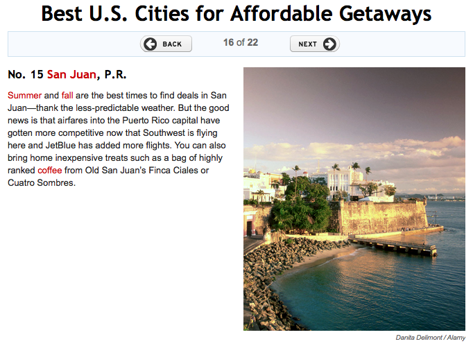 San Juan – One of the Best US Cities for Affordable Getaways