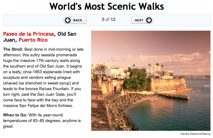 Old San Juan - Paseo La Princesa - World's Most Scenic Walks