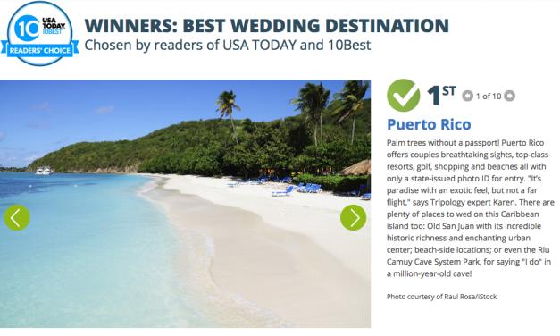 Puerto Rico – Best Wedding Destination