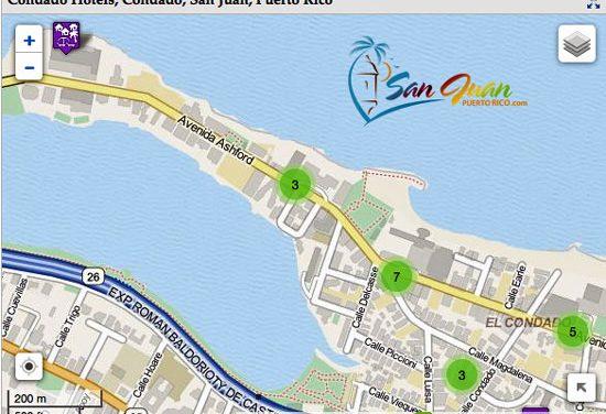 Hotels Map – Condado & Puerta de Tierra, San Juan, Puerto Rico