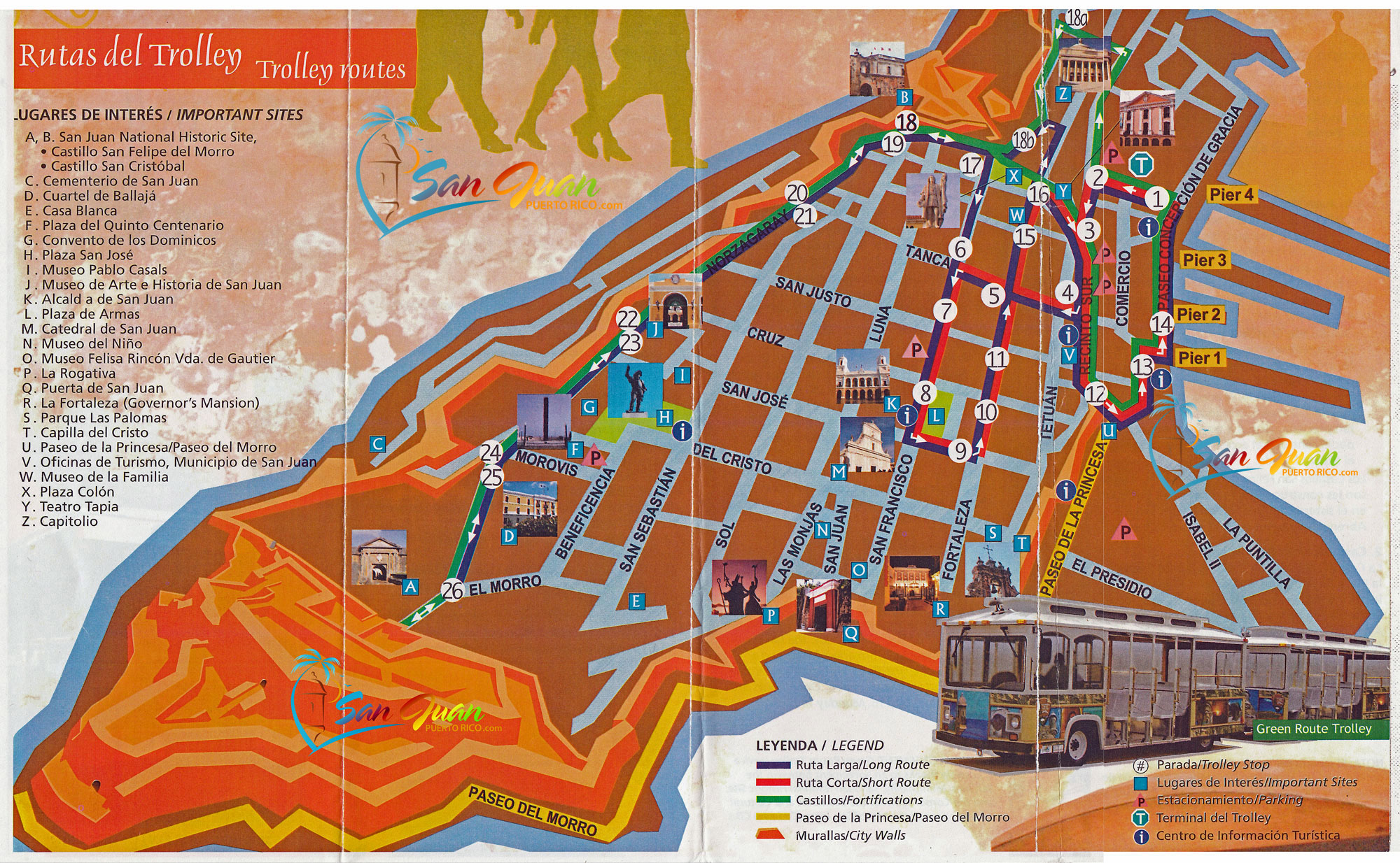 San Juan Puerto Rico Trolley Map