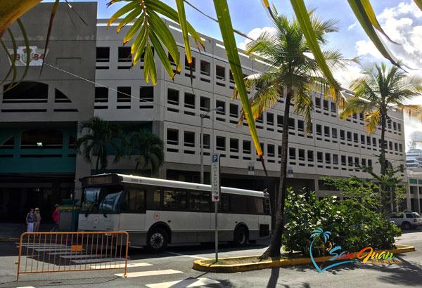 Bus Terminal in Old San Juan, Puerto Rico