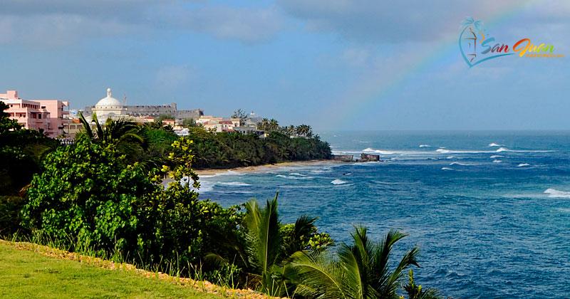 San Juan Puerto Rico - View from Paseo de Tierra - Old San Juan