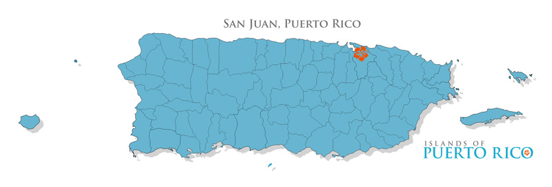 Map - San Juan, Capital City of Puerto Rico