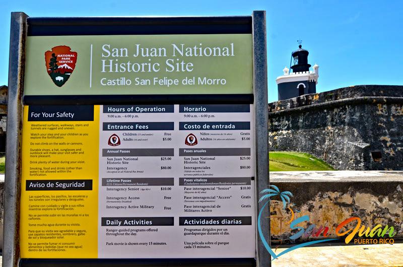 San Juan National Historic Site Hours