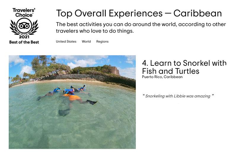 Best Experiences in the Caribbean - Snorkeling in San Juan Puerto RIco