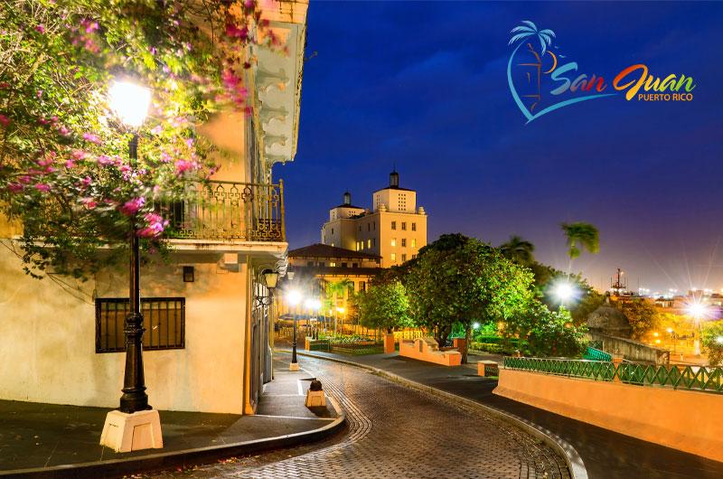 Night Scene in Old San Juan, Puerto Rico