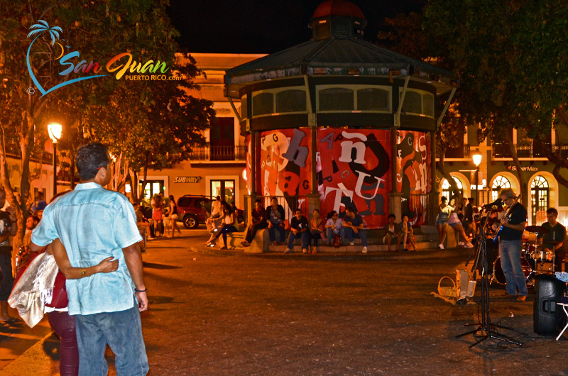 Live Music at a Square in Old San Juan, Puerto Rico