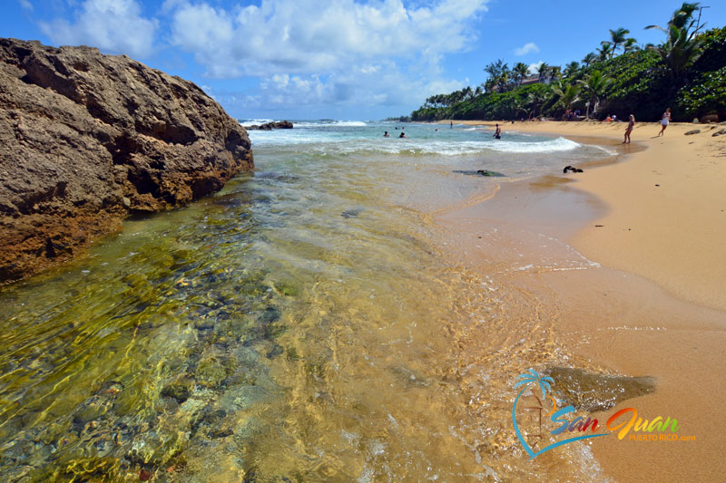 Beautiful beaches in San Juan, Puerto Rico