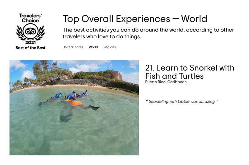 Best Experiences in the World - Snorkeling in San Juan Puerto Rico