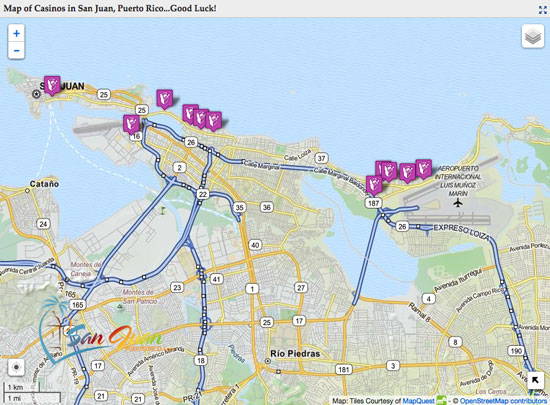 San Juan Hotels Map - Puerto Rico - Full Maps