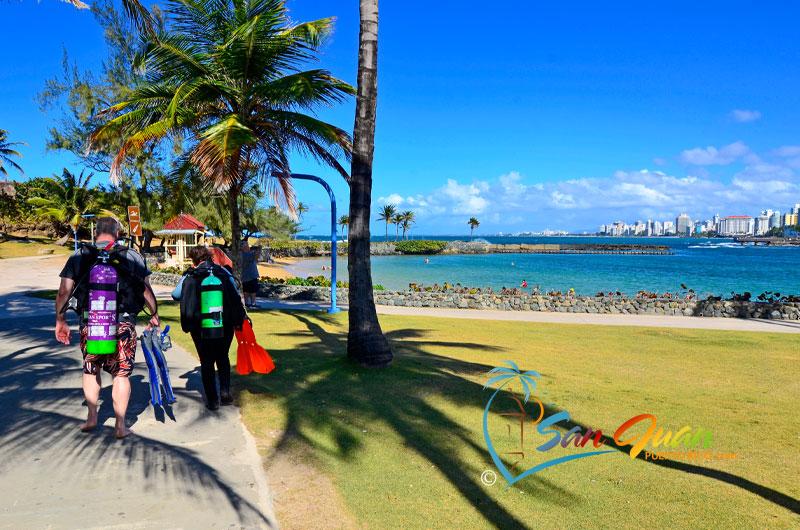 Going Scuba Diving - Playa El Escambron - San Juan, Puerto RIco